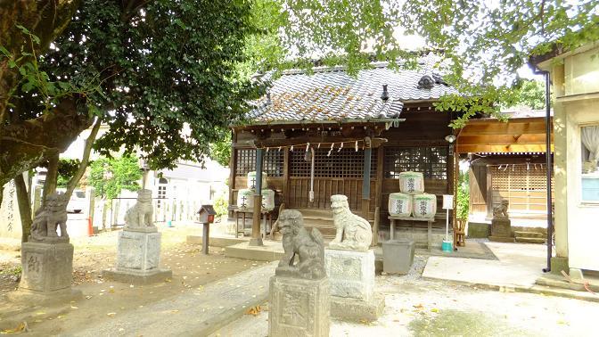 古河の八幡神社拝殿