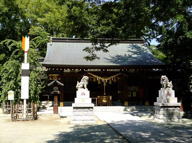 新田神社の拝殿・大田区