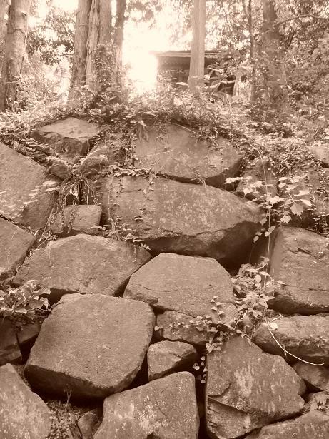 モノクロ石垣