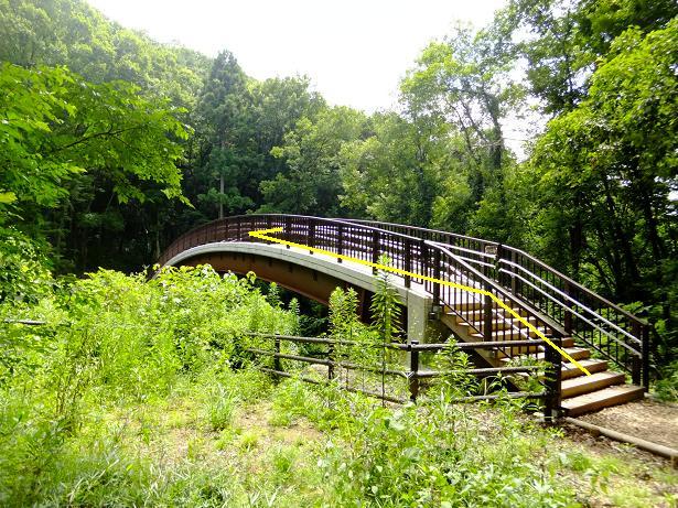 八王子山への橋