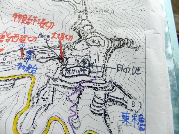 本丸部地図アップ