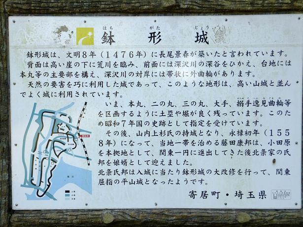 鉢形城説明板