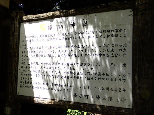 諏訪神社説明板