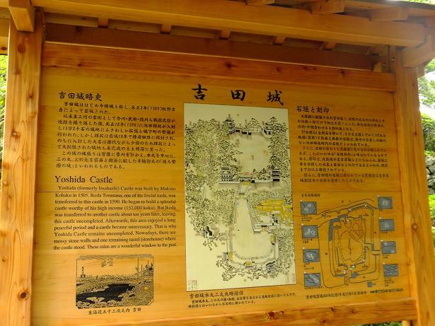 吉田城説明板
