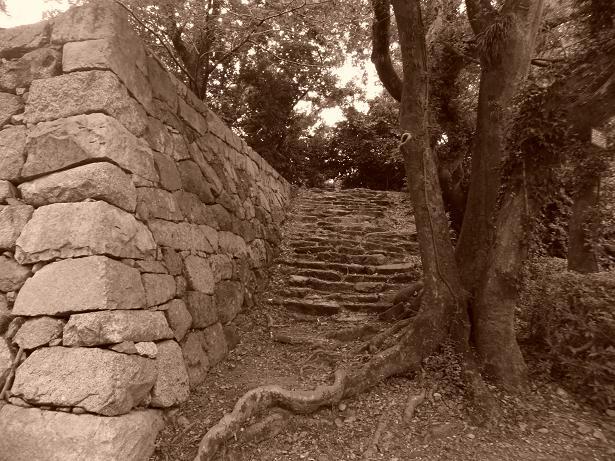 石段セピア