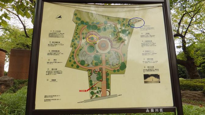 大森貝塚遺跡公園見取り図