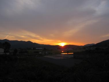 故郷の夕日