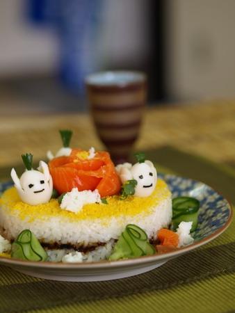 寿司ケーキ試作15
