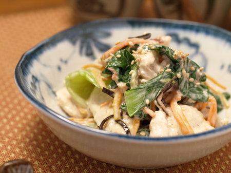 鶏胸肉と青梗菜のコクマヨ02