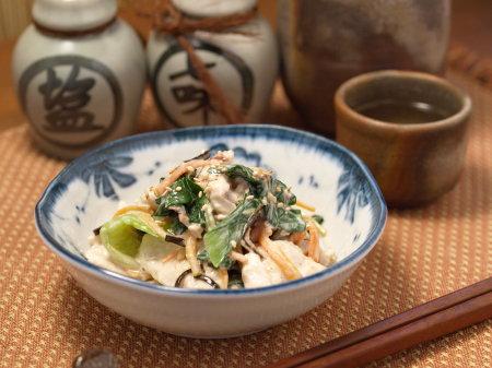 鶏胸肉と青梗菜のコクマヨ和05