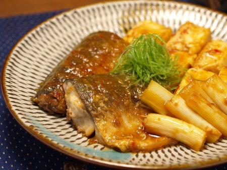 鯖と豆腐の辛味噌煮a03