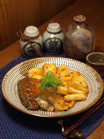 鯖と豆腐の辛味噌煮a02