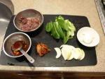 キムチレバー炒め半熟玉子つき3