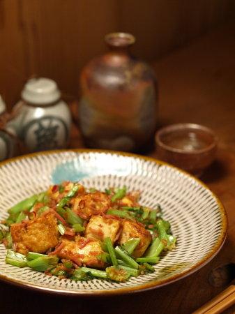 大根葉と豆腐ベーコン炒めa01