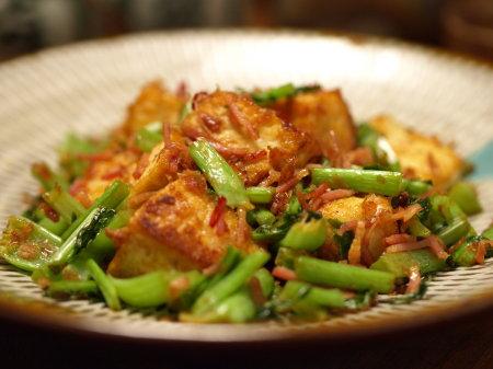 大根葉と豆腐ベーコン炒めa03