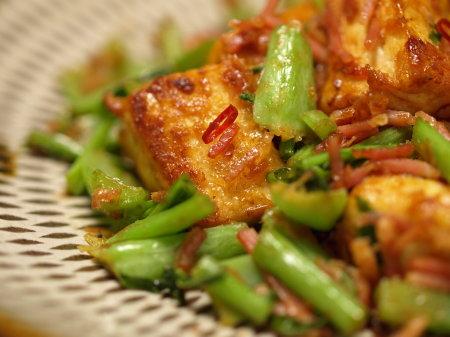大根葉と豆腐ベーコン炒めa05