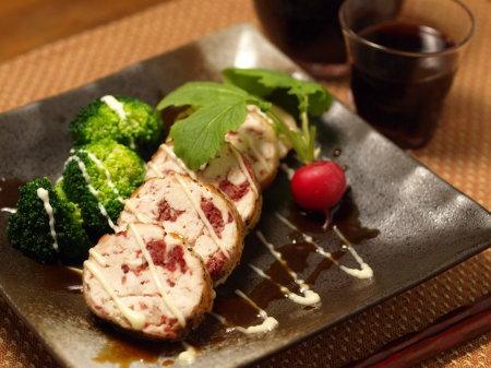 鶏胸肉のコンビーフ焼き09