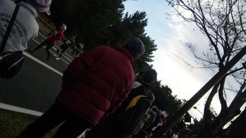 沿道の応援
