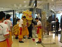 lion dance in central