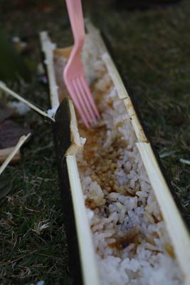 竹で炊いたごはん