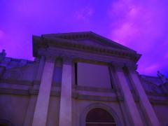 教会広場05:日暮れ