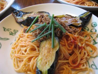 ピエトロ ナスとひき肉の辛みスパゲティ