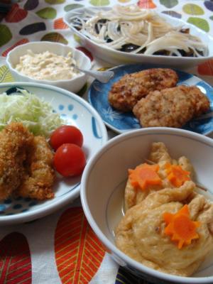 牡蠣フライ定食!