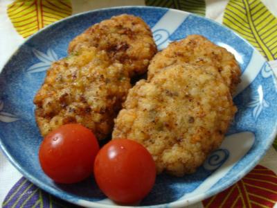 豆腐と鶏むね肉のさつま揚げ♪