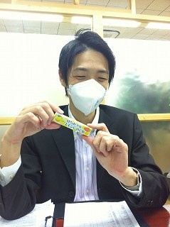 kimura with candy