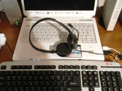 ハングルキーボード Skypeヘッドセット ノートパソコン