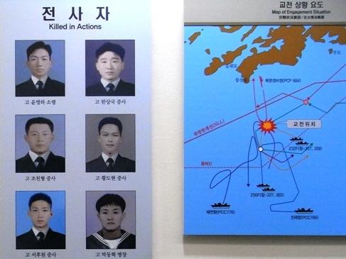 第2延坪海戦で殉職した6名の写真