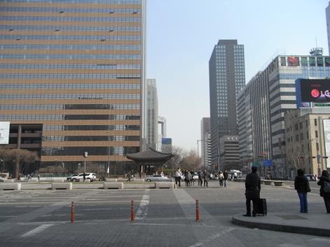 地下鉄 光化門駅 7番出口付近の風景