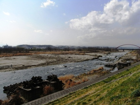 ゴール地点付近 多摩川土手(昭島市)