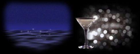 夜の海&ドライマティーニ