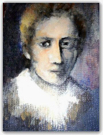 ショパンの肖像 油絵(未完成)
