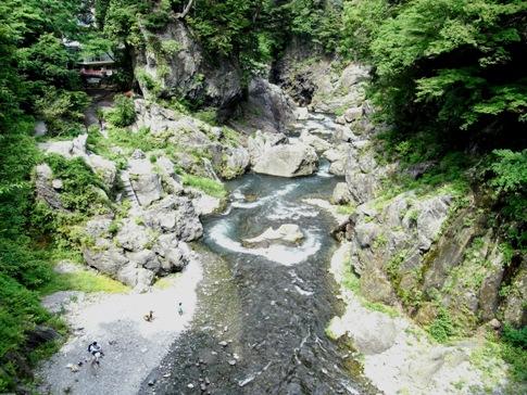 多摩川 流れが速い場所
