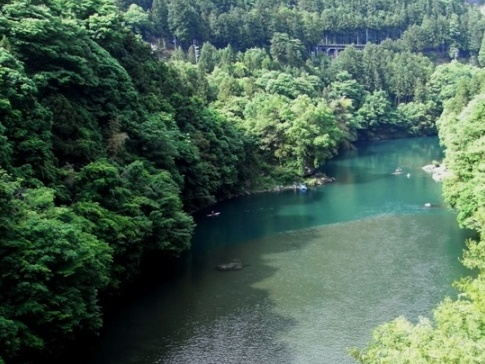 多摩川 流れが穏やかな場所