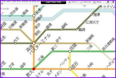 ソウル地下鉄マップ②