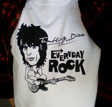 Keith Richards EverydayRock T Shirt Caricature