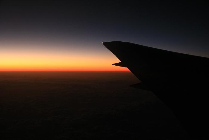 JTA320便上空1万1千Mから