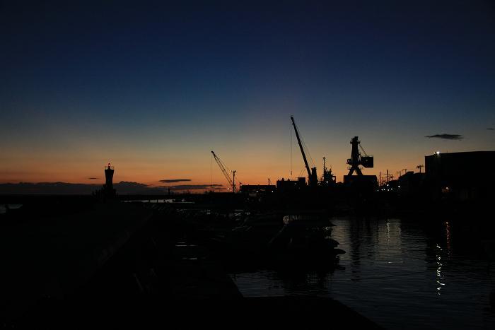 明石港より、1