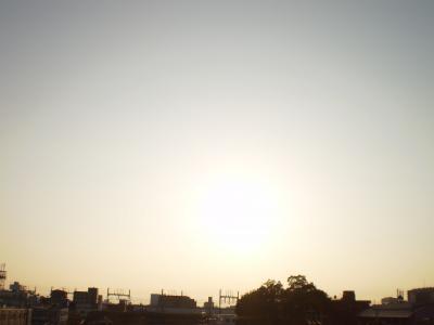 28日の夕日