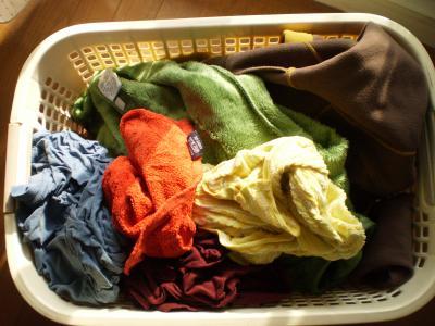 洗濯物の色合い