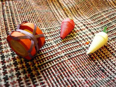 包み太鼓と唐辛子と大根