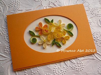 お花のカード