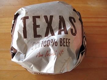 第1弾として本日より Texas Burger が期間限定で登場!