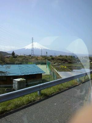 車窓から富士山1
