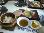 釜飯と天ぷら