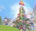 ラスタール平原のクリスマスツリー(雪)