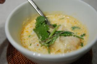 豆乳わんたんスープ
